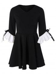 Plus Size Ruffles Fit and Flare Dress -