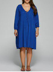 Plus Size Empire Waist Loose-Fitting Dress -