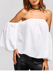 Off The Shoulder Backless Chiffon Blouse