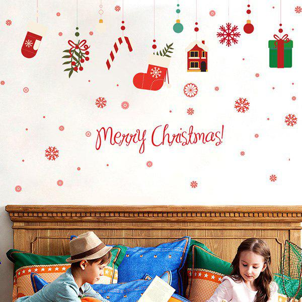 Christmas Gifts Removable Glass Window Wall StickersHOME<br><br>Color: COLORFUL; Wall Sticker Type: Plane Wall Stickers; Functions: Decorative Wall Stickers; Theme: Christmas,Holiday; Material: PVC; Feature: Removable,Washable; Size(L*W)(CM): 60*90; Weight: 0.310kg; Package Contents: 1 x Wall Stickers;
