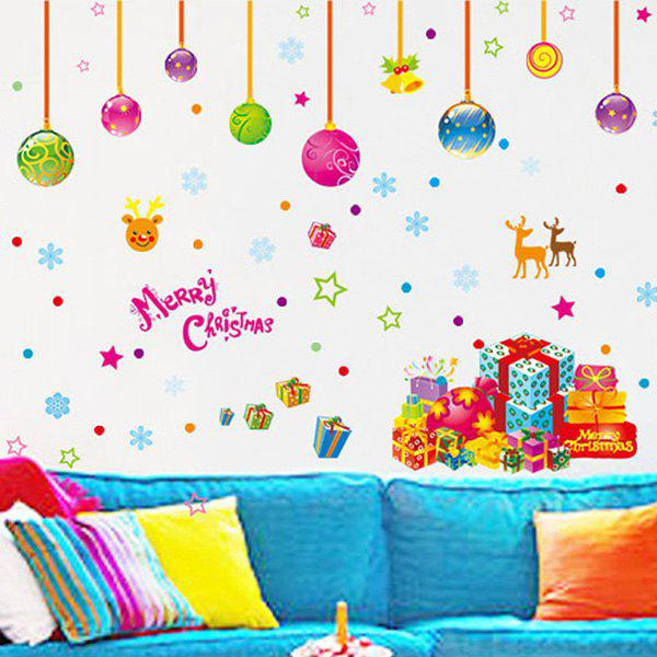 Colorful Merry Christmas Removable Childrens Room Wall StickersHOME<br><br>Color: COLORFUL; Wall Sticker Type: Plane Wall Stickers; Functions: Decorative Wall Stickers; Theme: Christmas,Holiday; Material: PVC; Feature: Removable,Washable; Size(L*W)(CM): 50*70; Weight: 0.203kg; Package Contents: 1 x Wall Stickers;