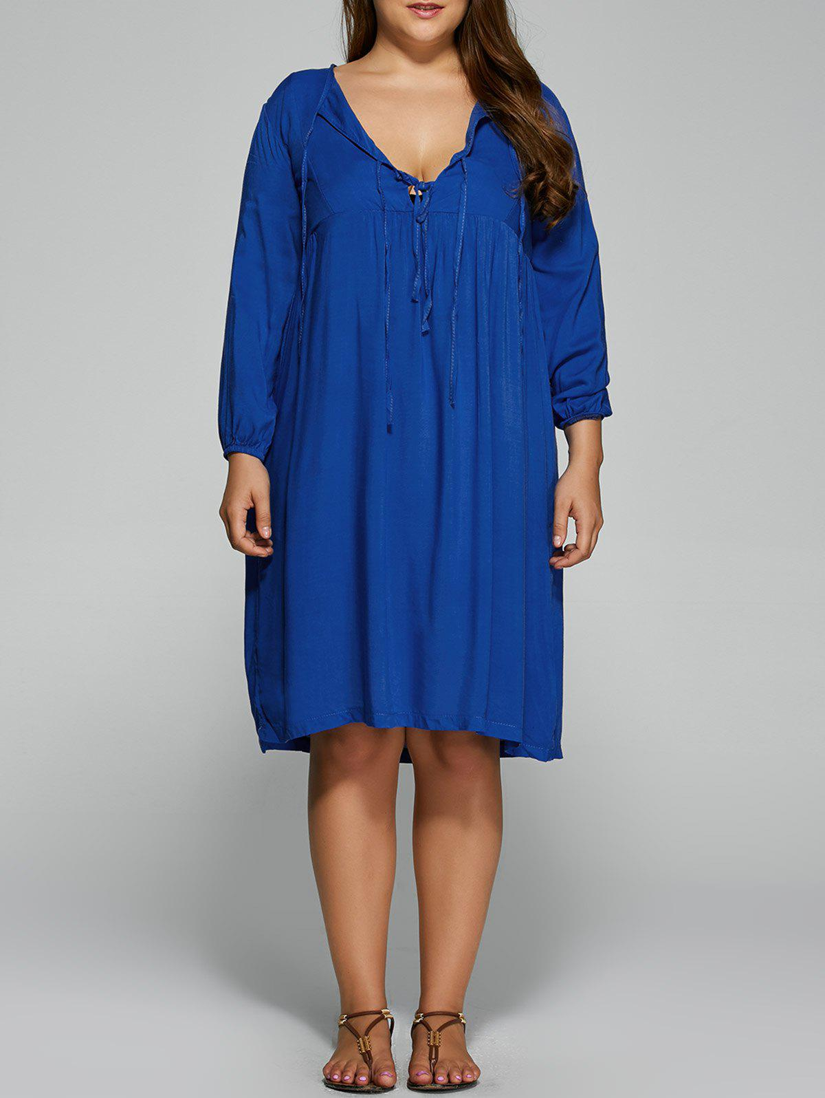 Chic Plus Size Empire Waist Loose-Fitting Dress