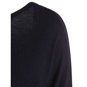 Long Sleeve Open Back T-Shirt - BLACK XL