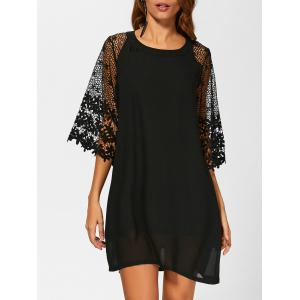 Crochet Lace Casual Loose Chiffon Dress