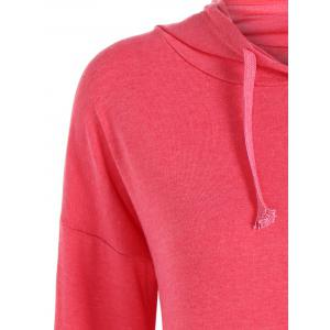 String Asymmetric Hoodie - RED XL