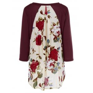 Floral Print Layered Blouse