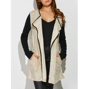 Two Tone Loose Cardigan