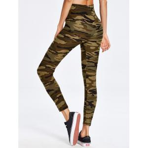 Army Camouflage Running Exercise Pants - CAMOUFLAGE ONE SIZE
