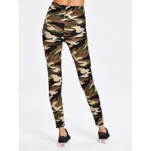 Military Camo Running Exercise Pants - CAMOUFLAGE ONE SIZE