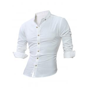 Long Sleeve Plain Button Down Shirt