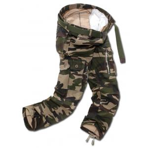 Camo Multi Pockets Zippered Cargo Pants - ARMY GREEN CAMOUFLAGE 40