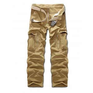 Multi Pockets Zippered Cargo Pants