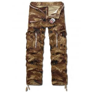 Multi Pockets Camo Army Cargo Pants