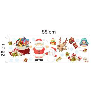 2PCS Merry Christmas Tree Removable Wall Stickers For Nursery - COLORFUL