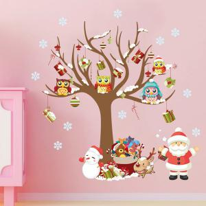 2PCS Merry Christmas Tree Removable Wall Stickers For Nursery -