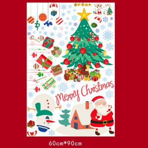 Wholesale Merry Christmas Shopwindow Removable Wall Stickers - COLORFUL