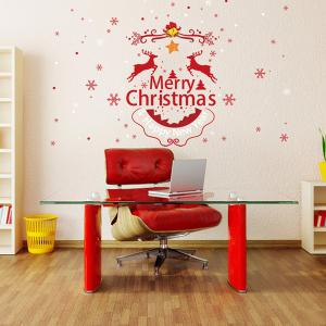 Merry Christmas DIY Removable Home Decor Wall Stickers -