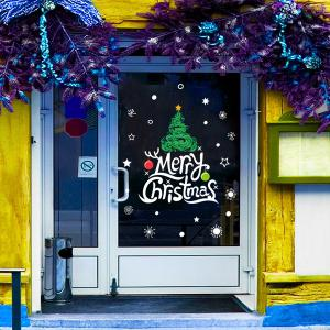 Removable Merry Christmas Banner Window Door DIY Wall Stickers
