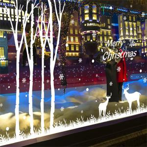 Removable Merry Christmas Deer Window Door DIY Wall Stickers