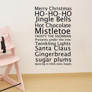 Merry Christmas Proverb Removable Living Room Wall Stickers -