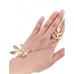 Gold Plated Spring Leaf Ring
