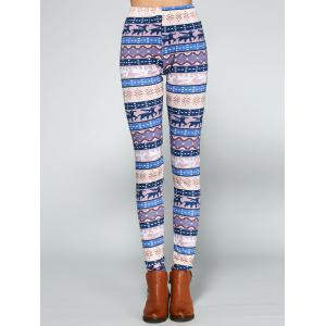 Christmas Ornate Printed Leggings - COLORMIX XL