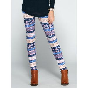 Christmas Ornate Printed Leggings - Colormix - S