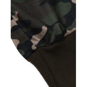 Plus Size Camouflage Beam Feet Jogger Pants -