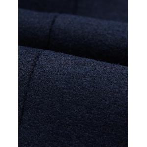 Stand Collar Single-Breasted Woolen Jacket - BLACK L