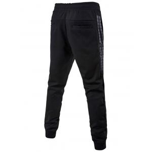 Drawstring Waist Grid Printed Jogger Pants - BLACK 5XL
