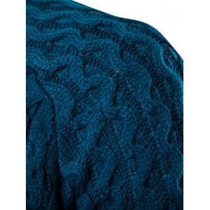 Textured Crew Neck Slim Fit Pullover Sweater - LAKE BLUE XL