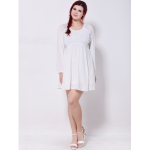 Plus Size Cut Out Chiffon Swing Dress -