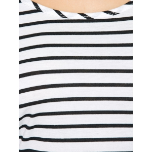 Surplice Back Striped T-Shirt -