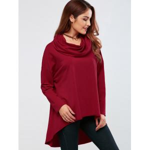 Cowl Neck High Low Hem Pullover -
