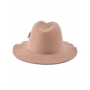 Wool Plane Button Fedora Cap -
