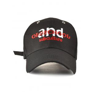 Letters Embroidery Outdoor Adjustable Baseball Cap -