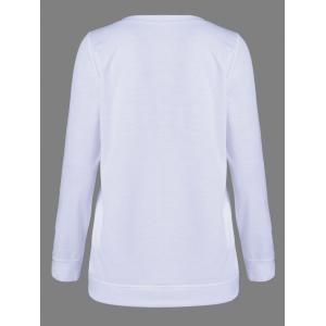 Skull Long Sleeve T-Shirt - WHITE XL