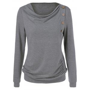 Side Button Sweatshirt