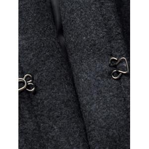 Lapel Pocket Design Woolen Blend Coat -