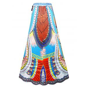 High Waist Long African Skirt -
