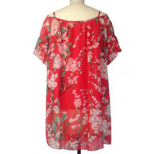 Floral Mini Chiffon Bohemian Tunic Dress -
