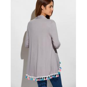 Fringes Collarless Cardigan -