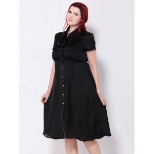 Pintuck Button Down Dress -