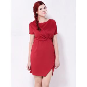 Ruched Furcal Tulip Dress -