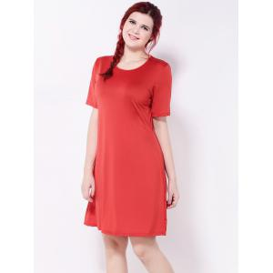 Short Sleeve A-Line Dress -