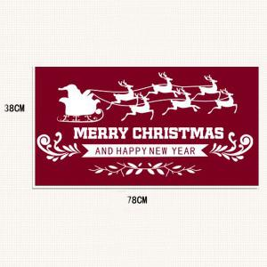 Showcase Decor Removable Merry Christmas Deer DIY Wall Stickers -