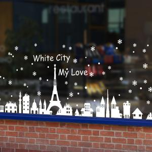 White City Removable Merry Christmas DIY Wall Stickers Showcase Decor -