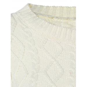 Cable Knit Pullover Sweater - OFF-WHITE 2XL