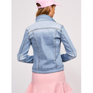 Double Button Pockets Denim Jacket -