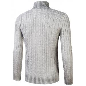 Roll Neck Kink Design Sweater -